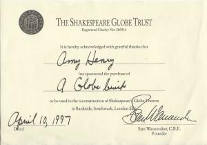 Shakespeare GLOBE BRICK CROP
