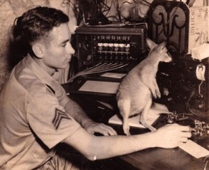 Verlin C. Blackwell and pet wallaby (copyright 2016 T.B. Rhodes and A.B. Kautz)