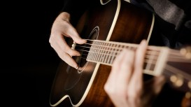 happy-use-playing-acoustic-guitar-wallpaper